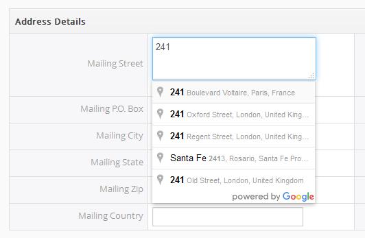 Smart Address Lookup