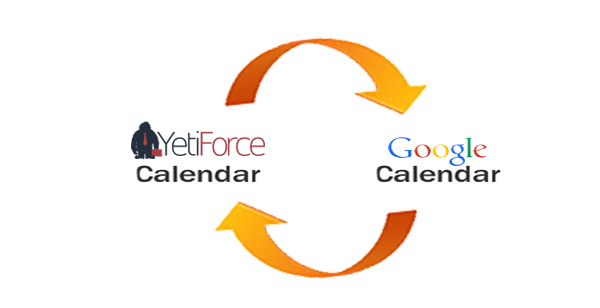 Sync between Google calendar and YetiForce CRM