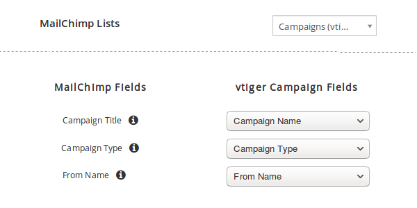 Relate CRM and MailChimp Fields