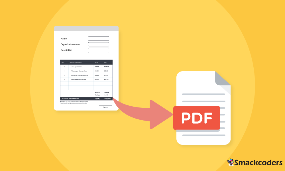 To Design Your Own Pdf Templates For Invoice