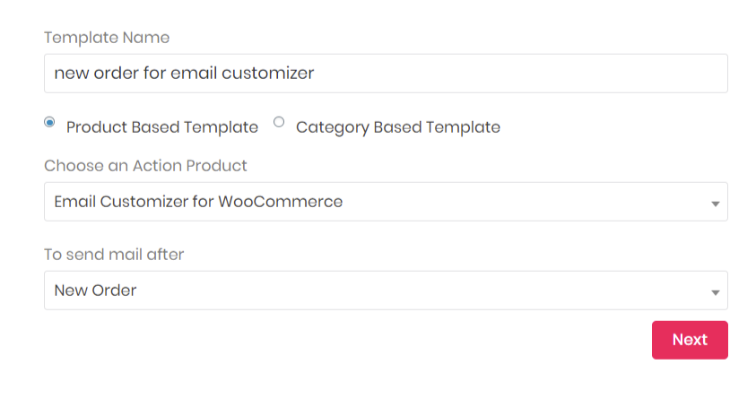 create product based template in Email Customizer for WooCommerce