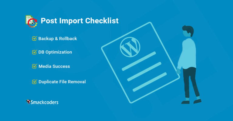 Post-Import-Checklist