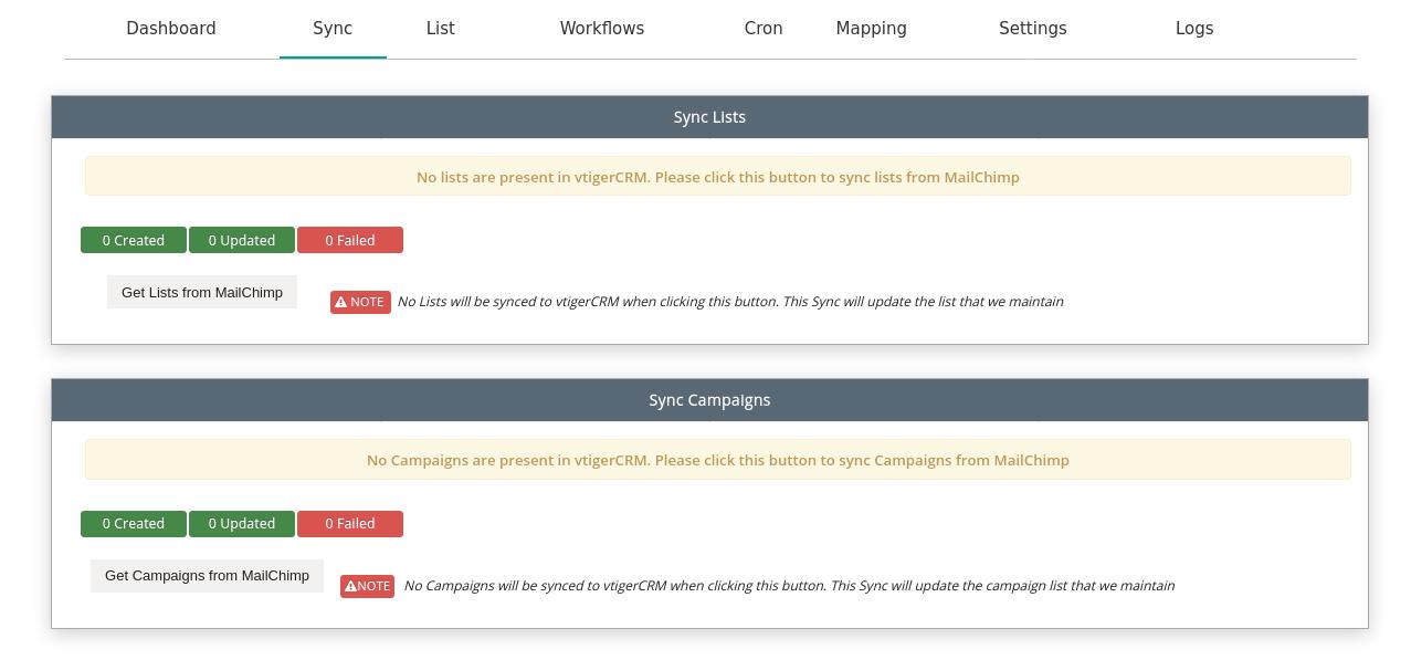 Vtiger7-MailChimp-list-Campaign-Sync