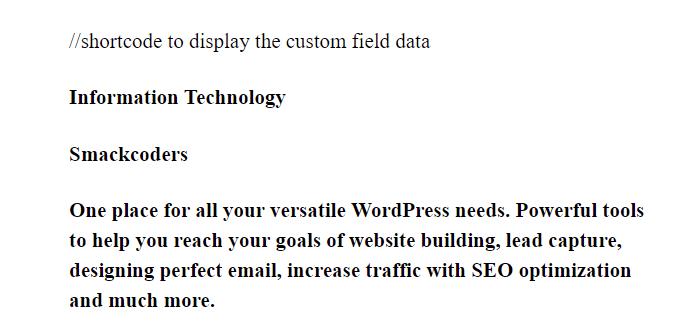 custom-field-list-in-wordpress